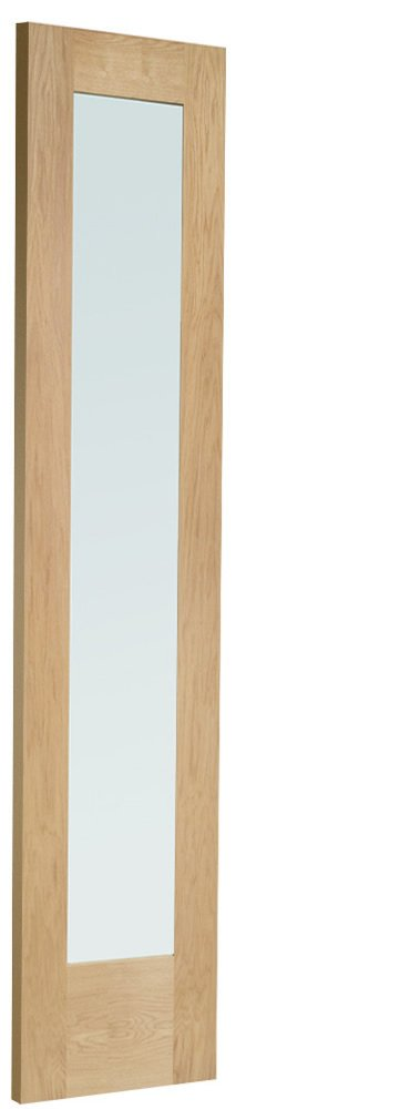 External Oak Dowelled Double Glazed P10 Side Light (Obscure)