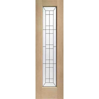 External Oak Dowelled Triple Glazed Bevelled Side Light with