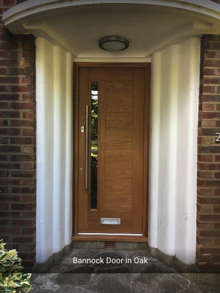 Bespoke handmade front external door